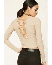 Forever 21 - Crisscross-back Jumper Sweater - Lyst