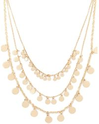 Forever 21 - Layered Disc Charm Necklace - Lyst