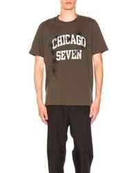 OAMC - Chicago Seven Tee In Khaki - Lyst