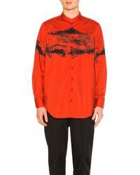 Neil Barrett - Stand Collar Shirt - Lyst