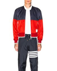 Thom Browne - Two Tone Nylon Ripstop Bomber Jacket - Lyst