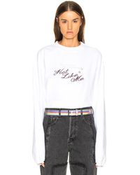 Vetements - Inside Out Long Sleeve Graphic Tee - Lyst