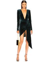 Alexandre Vauthier - Velvet Wrap Mini Dress - Lyst