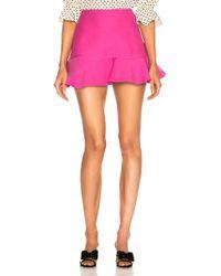 Valentino - Flared Hem Mini Skirt - Lyst