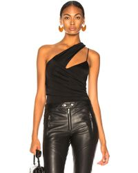Michelle Mason - Asymmetrical Gathered Bodysuit - Lyst