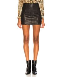 FRAME - Double-zip A-line Leather Mini Skirt - Lyst