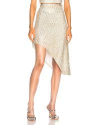 Rodarte - Beaded Asymmetric Hem Skirt - Lyst