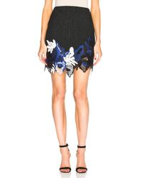 3.1 Phillip Lim - Embroidered Lace Ribbed Mini Skirt - Lyst