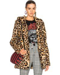 RTA - Henri Fur Coat In - Lyst