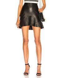 FRAME - Zip Twirl Mini Skirt - Lyst