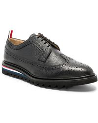 Thom Browne Pebble Grain Classic Longwing Brogue with Threaded Rubber Sole in . 9bDnA