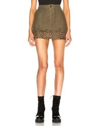 R13 - Utility Camp Skirt In Fatigue Olive - Lyst