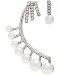 Oscar de la Renta - Floating Pearl Cuff Earring - Lyst