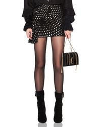 Saint Laurent - Polka Dot Knot Mini Skirt - Lyst