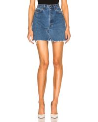RE/DONE - Levi's High Rise Mini Skirt - Lyst