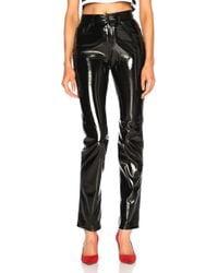Fiorucci - Skinny Pants In Black Vinyl - Lyst