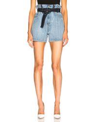 3.1 Phillip Lim - Belted Paper Bag Shorts - Lyst