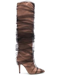 Off-White c/o Virgil Abloh - X Jimmy Choo Elisabeth Boot In Pink & Black - Lyst