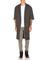 Fear Of God - Wool Striped Overcoat - Lyst