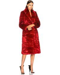 CALVIN KLEIN 205W39NYC - Long Faux Fur Coat - Lyst