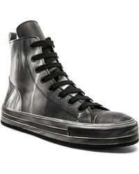 Ann Demeulemeester - Leather Hi-top Trainers - Lyst