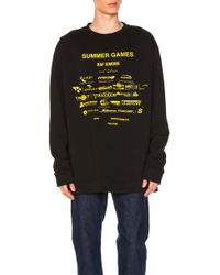 Raf Simons | Oversized Summer Games Sweatshirt | Lyst