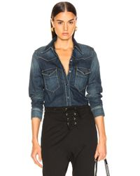 Nili Lotan - Button Denim Shirt - Lyst
