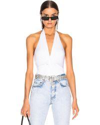 Enza Costa - Front Knot Halter Bodysuit - Lyst