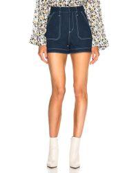 Chloé - Contrast Stitching Shorts - Lyst