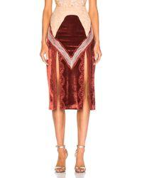 Jonathan Simkhai - Lacy Velvet Double Slit Skirt - Lyst