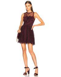 Jonathan Simkhai - Grommet Lariat Lace Mini Dress In Crimson - Lyst