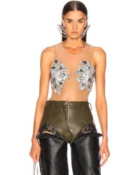 Y. Project - Swarovski Embroidered Body Suit Top - Lyst
