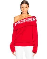 Monse - Logo Twist Shawl Sweater - Lyst