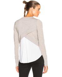 Veronica Beard - Alma Sweater In Heather Grey - Lyst