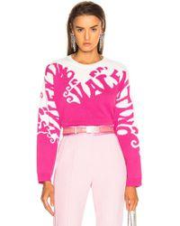 Valentino - Logo Waves Sweater - Lyst