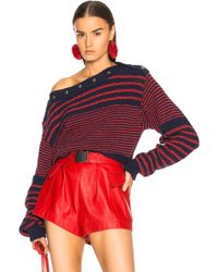 Philosophy Di Lorenzo Serafini - Adjustable Neck Jumper In Red & Navy - Lyst