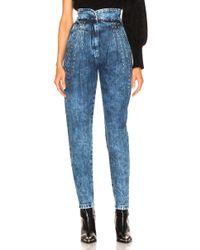 Alberta Ferretti - Studded Tapered Jeans - Lyst