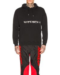 Givenchy Fading Logo Hoodie - Black