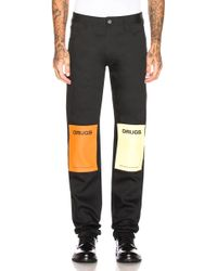 Raf Simons - Regular Fit Jean With Patches - Lyst