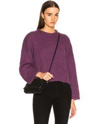 Raquel Allegra - Boxy Crew Alpaca Sweater - Lyst