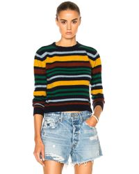 The Elder Statesman - For Fwrd Original Cropped Crew - Lyst