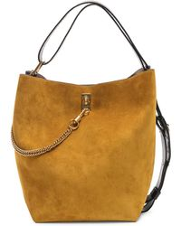 Givenchy - Medium Suede & Leather Bicolor Gv Bucket Bag - Lyst