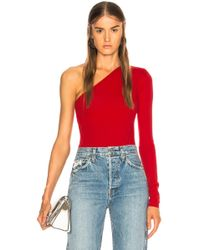Acne Studios - One Shoulder Bodysuit - Lyst