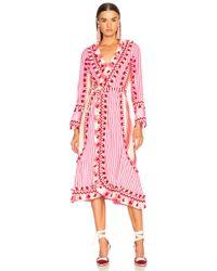 Dodo Bar Or - Miranda Tassel-trimmed Striped Cotton Wrap Dress - Lyst