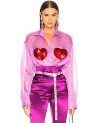 Ashish - Classic Sequin Heart Shirt - Lyst