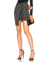 Veronica Beard - Aida Mini Skirt In Black & White Stripes - Lyst