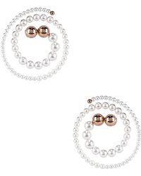Y. Project - Pearl Spiral Earrings - Lyst