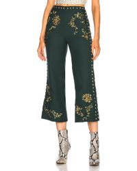 Rodarte - Floral Metallic Embroidered Cropped Pant - Lyst