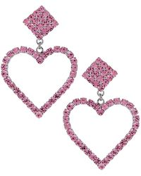 Alessandra Rich - Heart Earrings - Lyst