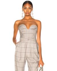 Carmen March - Checked Bustier Top - Lyst